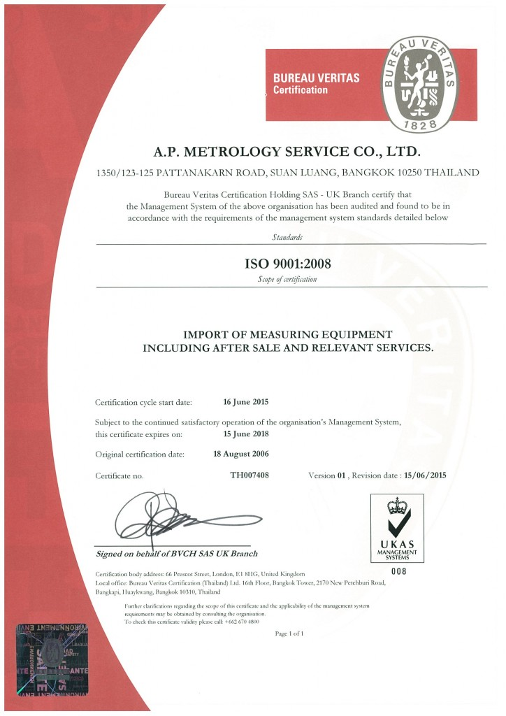 A.P. ISO 9001 (UPDATE)